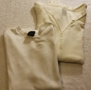 Tops - 2 long sleeve thermal shirts